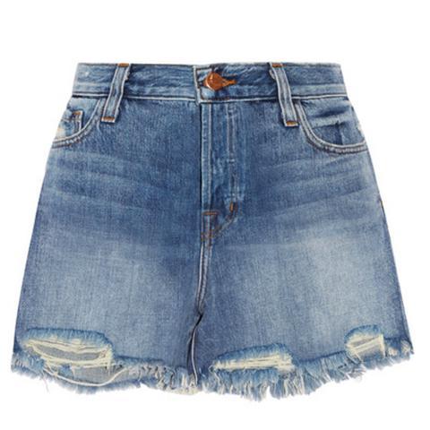Ivy Distressed Denim Shorts