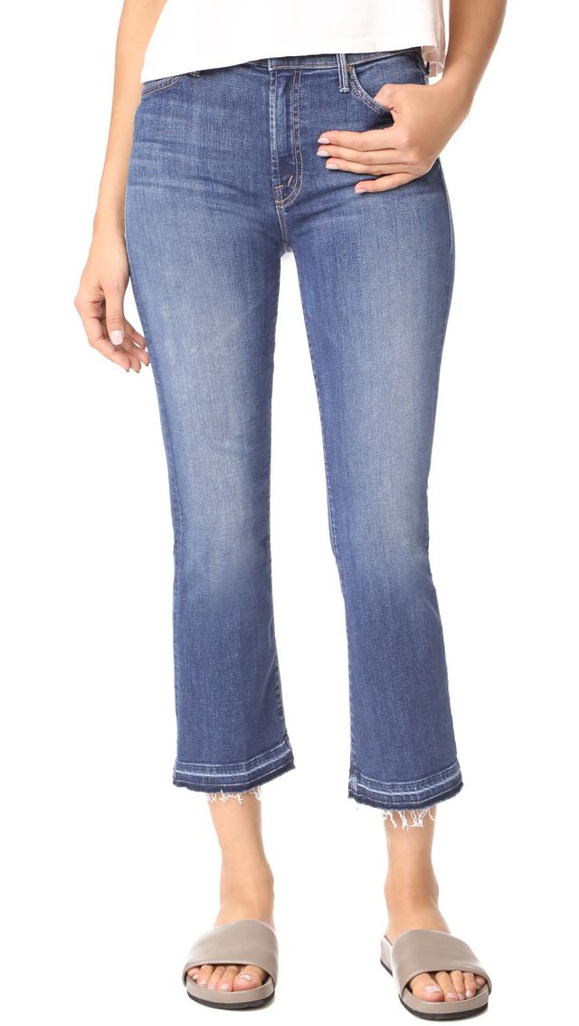 The Insider Crop Undone Hem Jeans