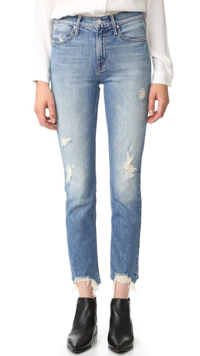 The Flirt Fray Rigid Jeans