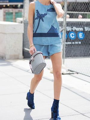 How to Wear High-Waisted Shorts When You're Not 22 Anymore