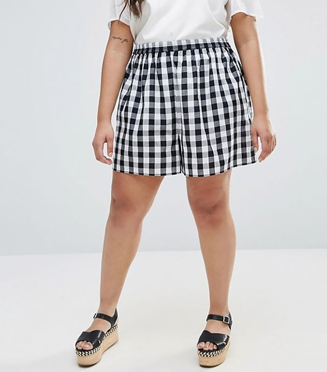 ASOS CURVE Gingham Culotte Shorts