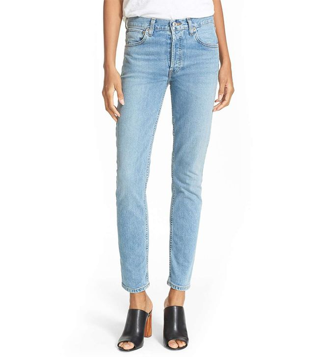 Women's Re/done Originals High Waist Straight Skinny Stretch Jeans