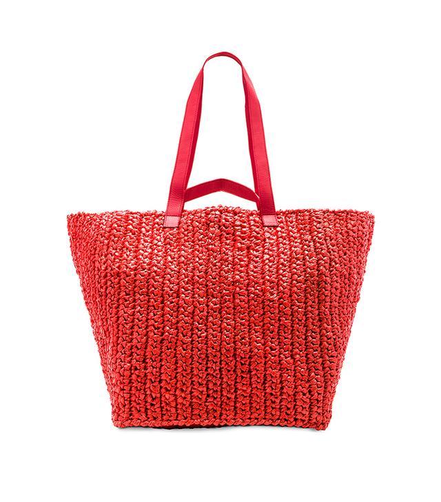 Lotte XL Weekender Bag in Red.