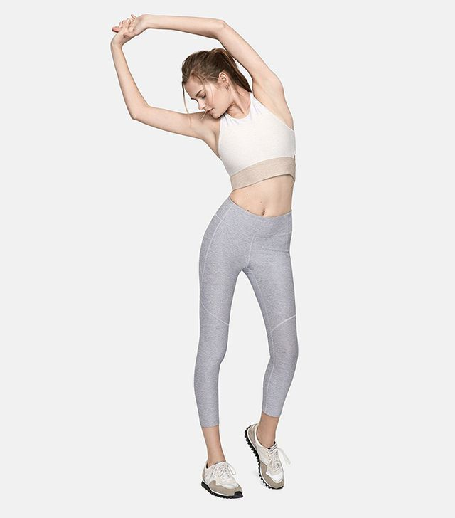 Outdoor Voices 3/4 Warmup Leggings in Blue Moon