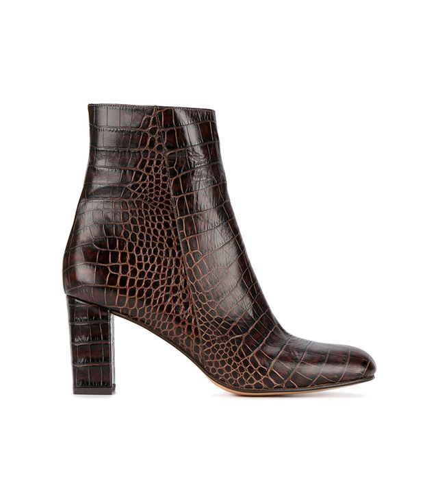 alligator-embossed Agnes boots