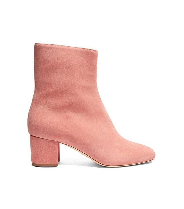 Kaya block-heel suede ankle boots