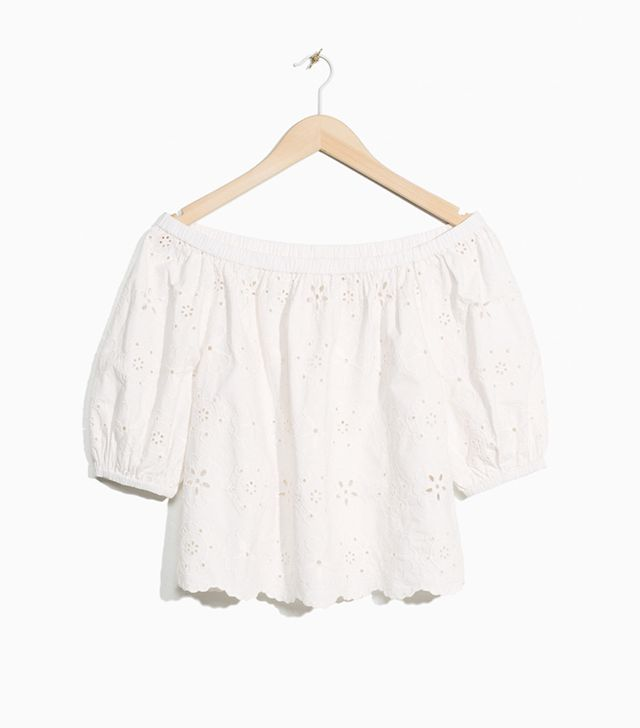 & Other Stories Embroidery Top