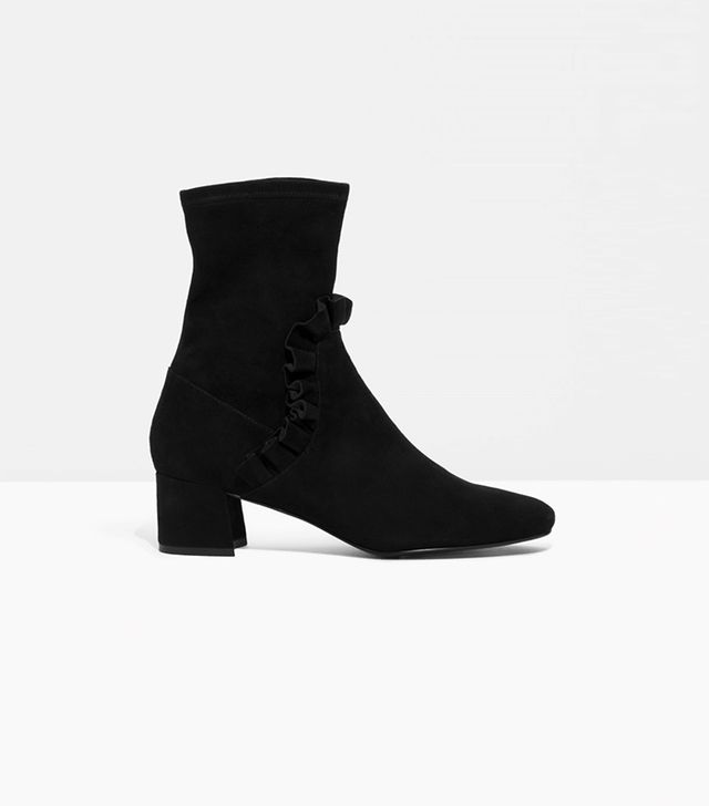& Other Stories Frill Suede Boots