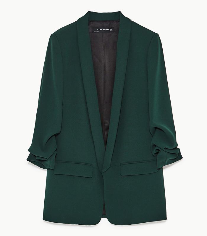 Zara Autumn Winter collection: green jacket