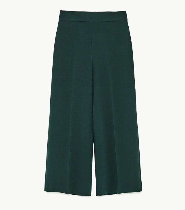 Zara Autumn Winter collection: green suit trousers