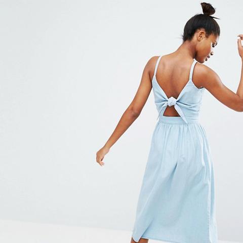 Bow Detail Midi Dress