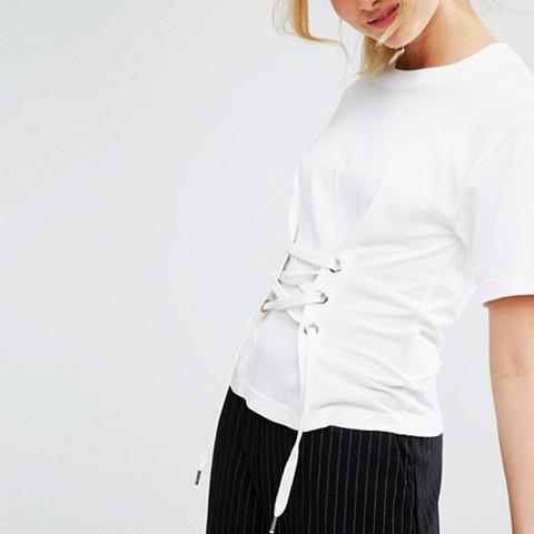 Corset Lace Front T-Shirt