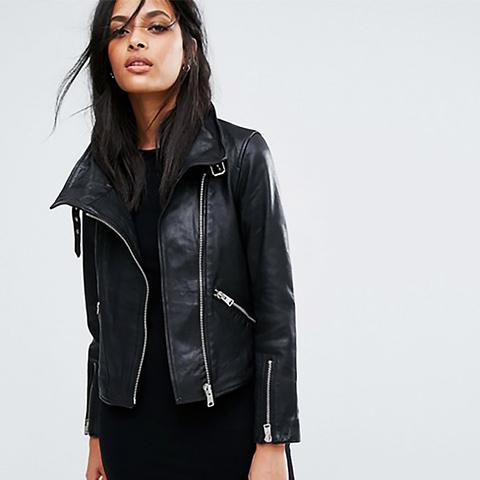 Lewin Leather Biker Jacket