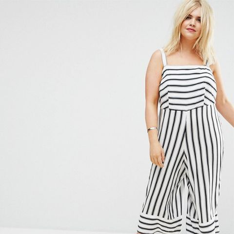 Plus Stripe Jumpsuit