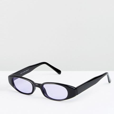 Inspired Cat Eye Sunglasses in Black