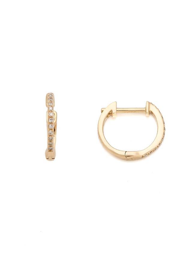 Pave Diamond Huggie Earrings