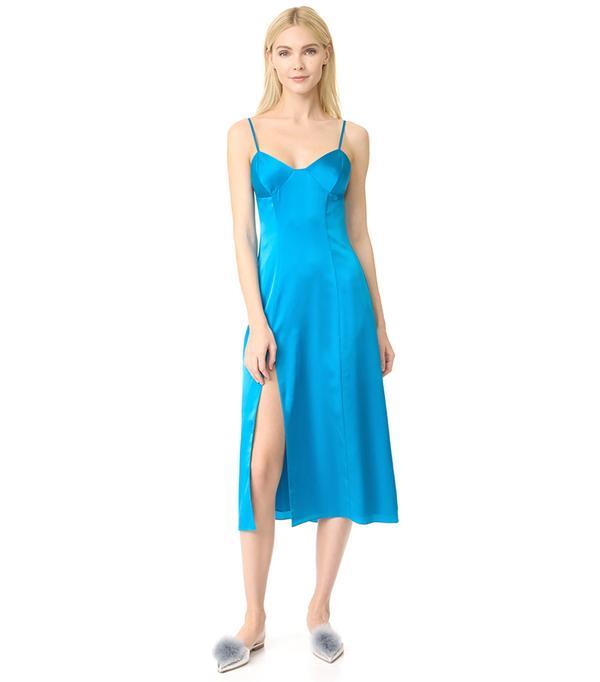 Bustier Midi Dress with Slit