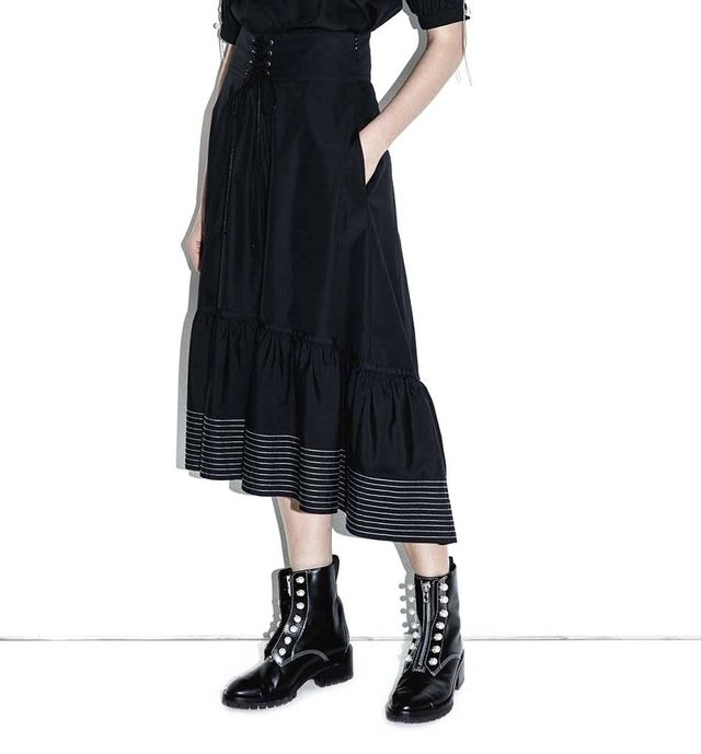 Best black midi skirt