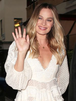 Margot Robbie Wore the Prettiest Sheer Dress in London