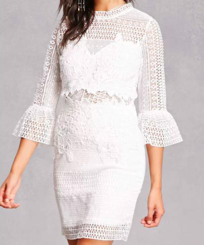 Soieblu Crochet Mini Dress