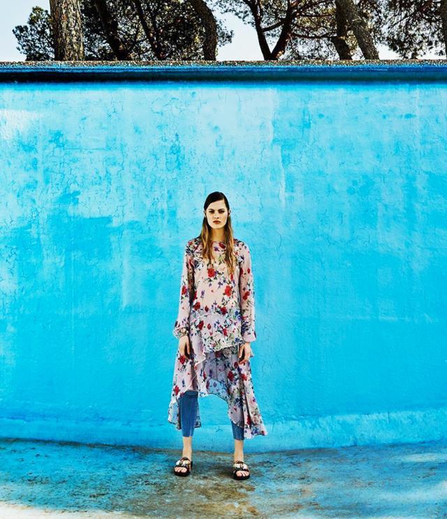 Stravidarius online fashion shop: dress over jeans