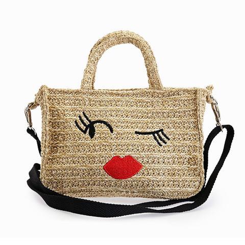 Raffia Crossbody Bag