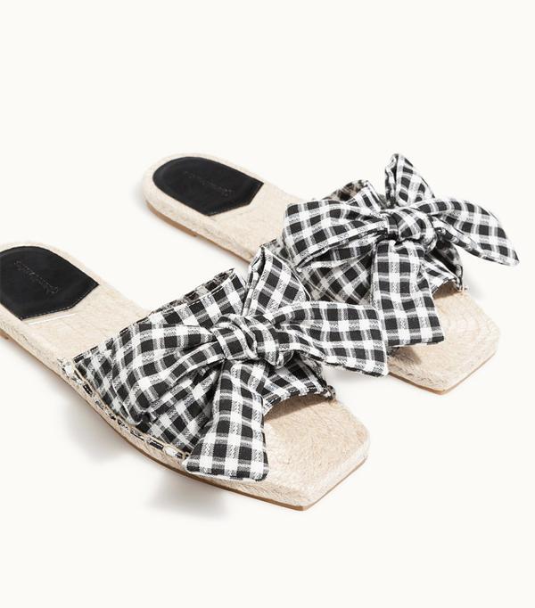 Stravidarius online fashion shop: gingham sandals