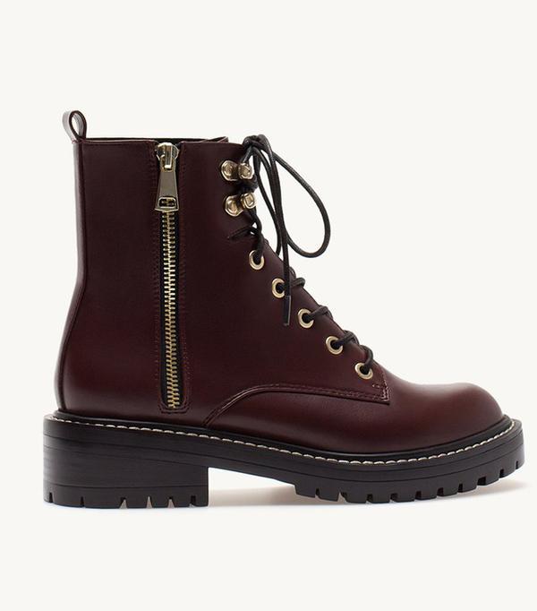 Stravidarius online fashion shop: lace up boots