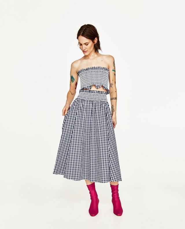 Zara Gingham Skirt and Top