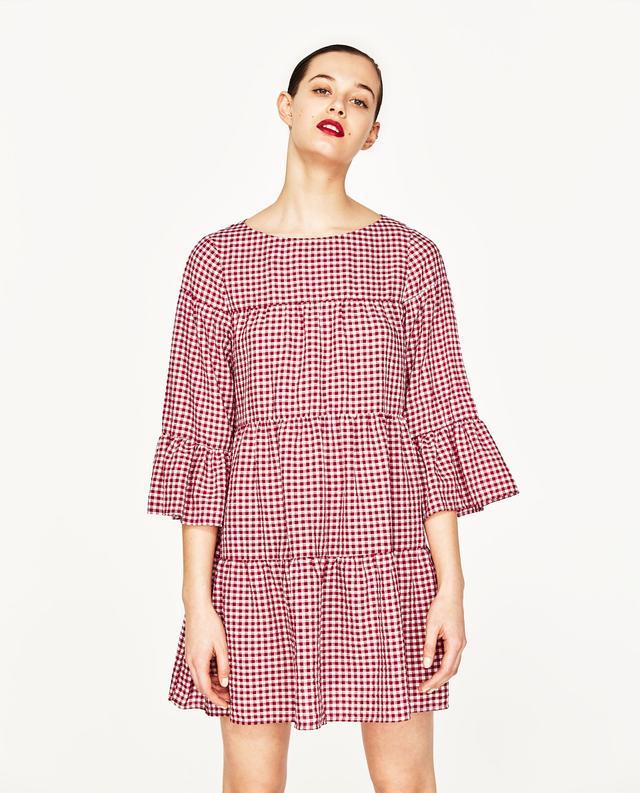 Zara Gingham Mini Dress