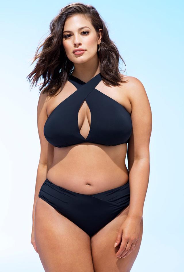 Ashley Graham x Swimsuits for All Black Bikini