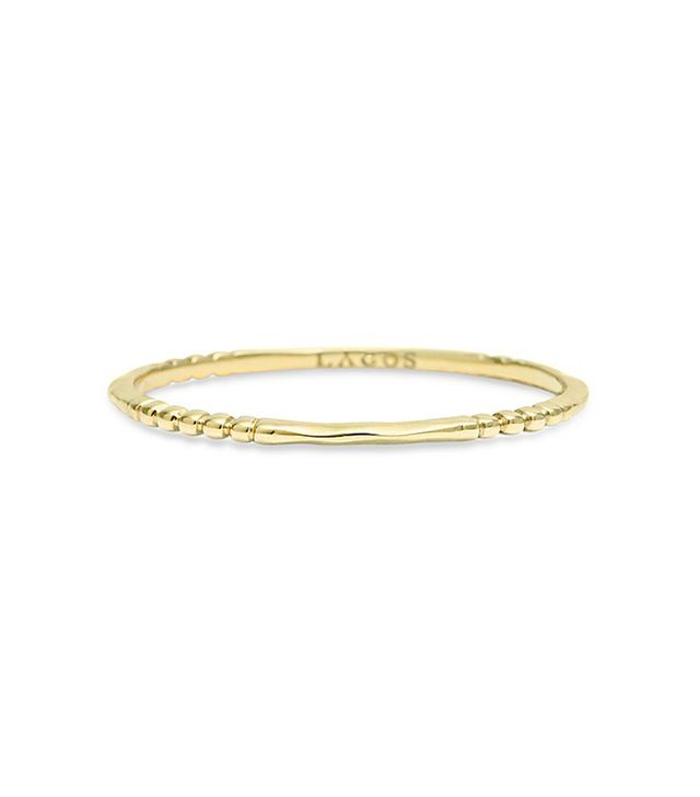 18K Gold Stacking Ring