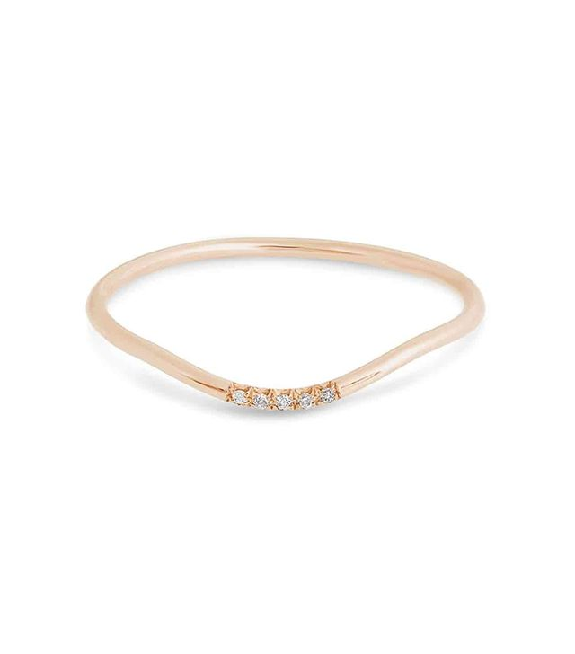 S&S XYZ Rose Gold Curve Band