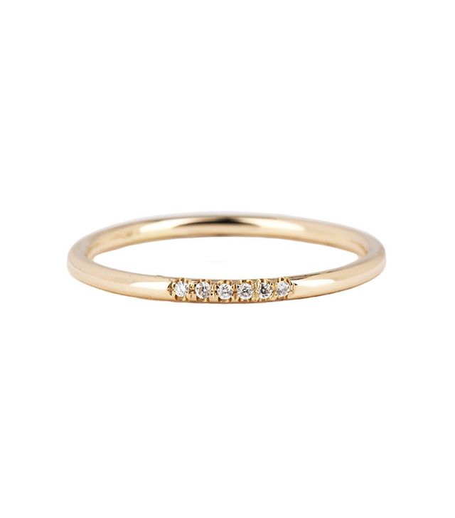 Jennie Kwon White Semi Pave Ring