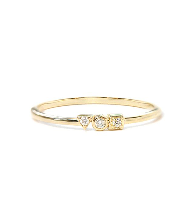 Anzie Cléo Geometric Stackable Ring
