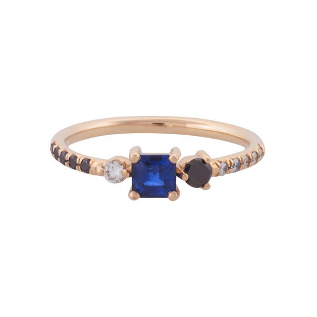 Mociun Capella Sapphire Cluster Ring