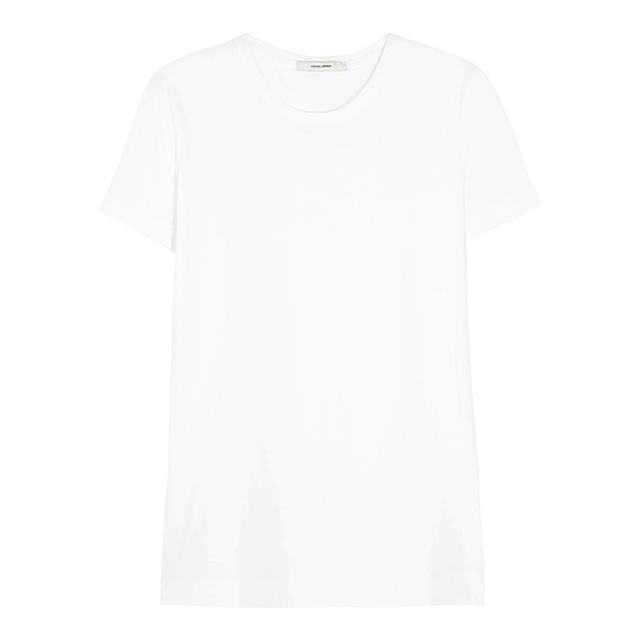 How to dress up a white tee and jeans: Adam Lippes Pima Cotton T-shirt