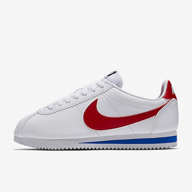 How to dress up a white tee and jeans: Nike Classic Cortez