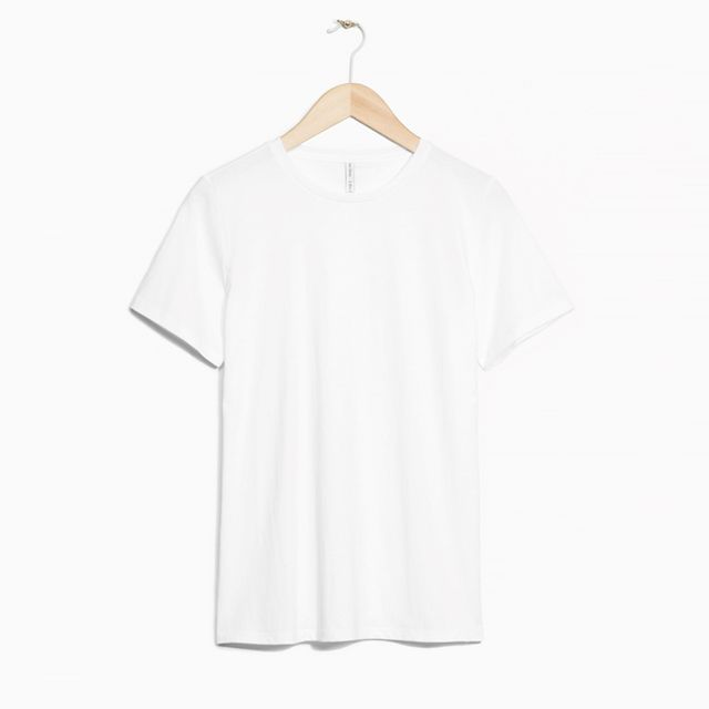 How to dress up a white tee and jeans: & Other Stories Organic Cotton T-shirt