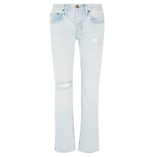 How to dress up a white tee and jeans: Rag & Bone Flared Jeans