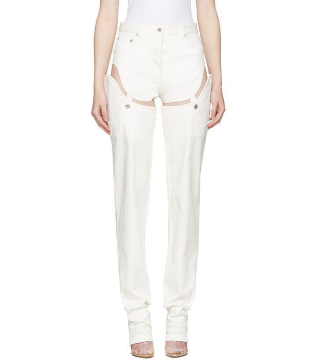 Y/Project Off-White Cut-Out Jeans