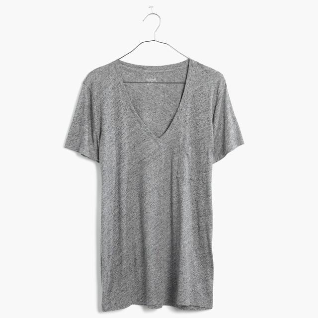 Grey V-neck T-Shirt
