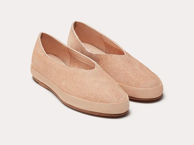Feit Ballet Suede Shoes in Natural