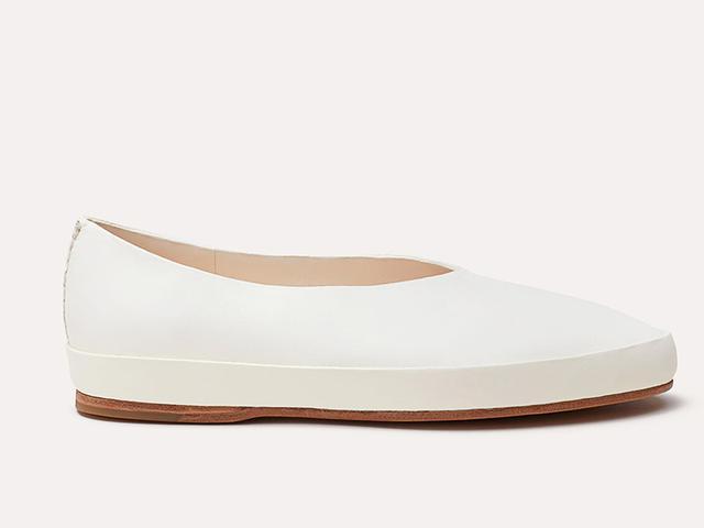 Feit Ballet Semi Cordovan Shoes in White