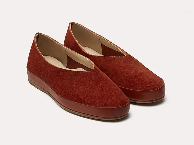 Feit Ballet Suede Shoes in Rust