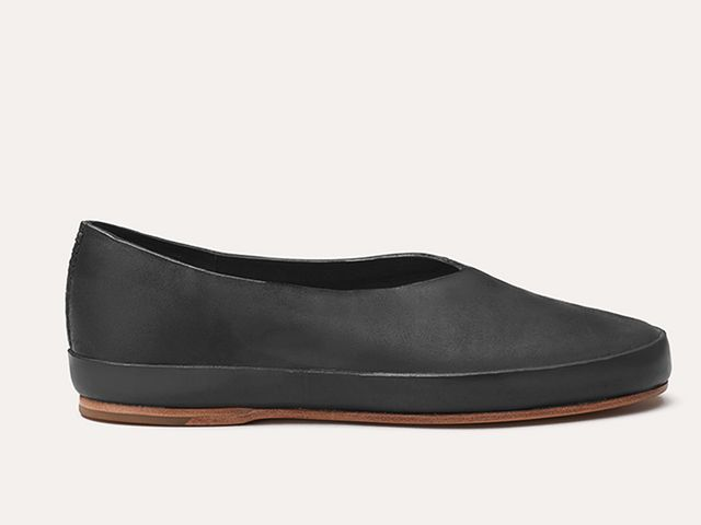 Feit Ballet Semi Cordovan Shoes in Black