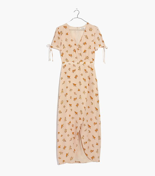 Silk Wrap Maxi Dress in Field Bouquet