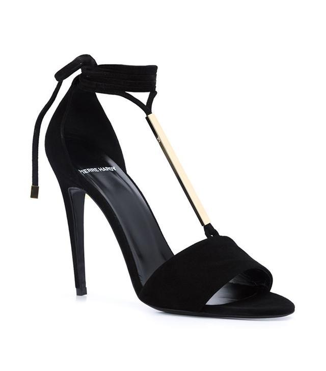 best black suede sandals