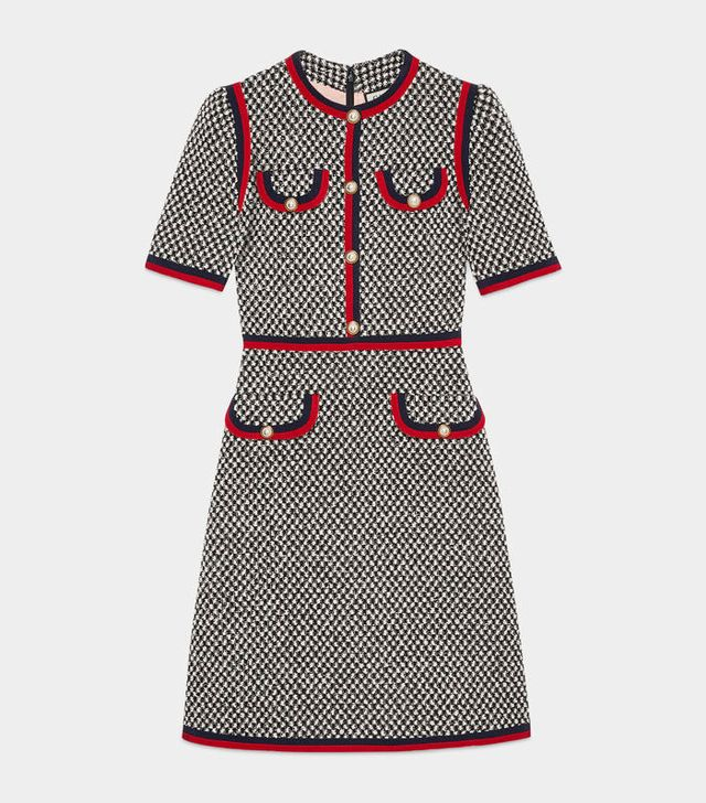 Duchess of Cambridge Gucci dress: Gucci Tweed Dress With Web