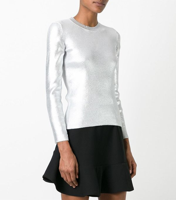 metallic (Grey) sweatshirt